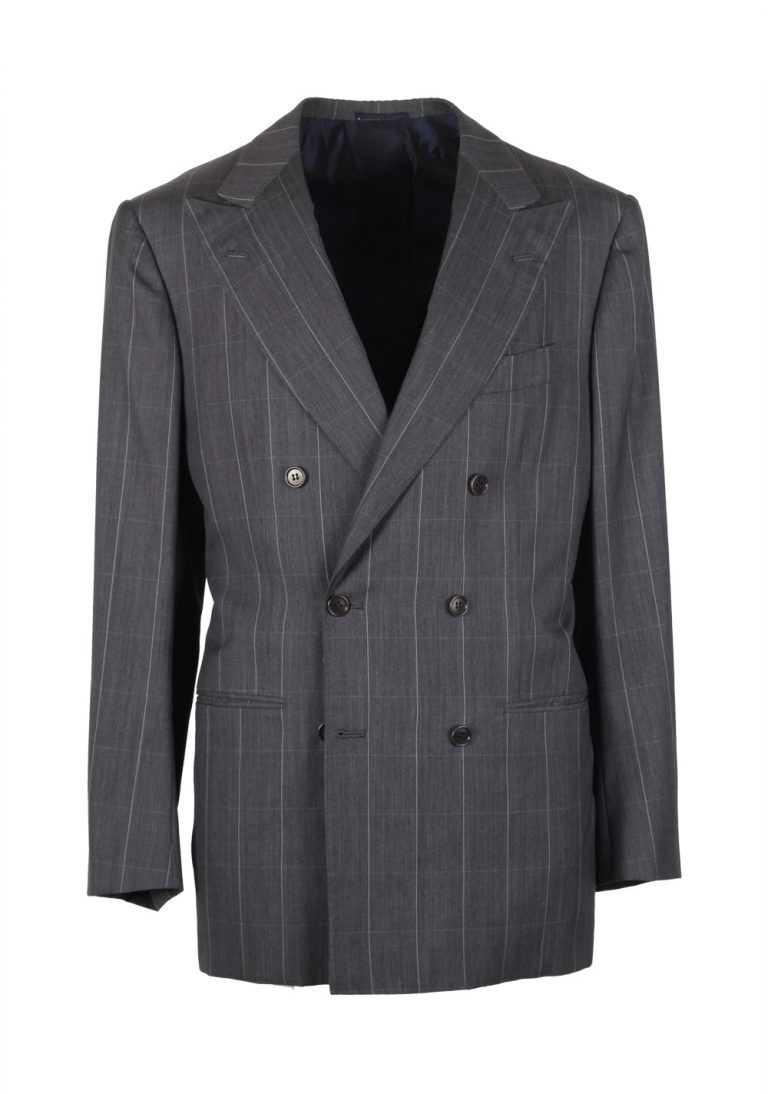 Kiton Suit Size 50 / 40R U.S. 14 Micron Super 180S Double Breasted - thumbnail | Costume Limité