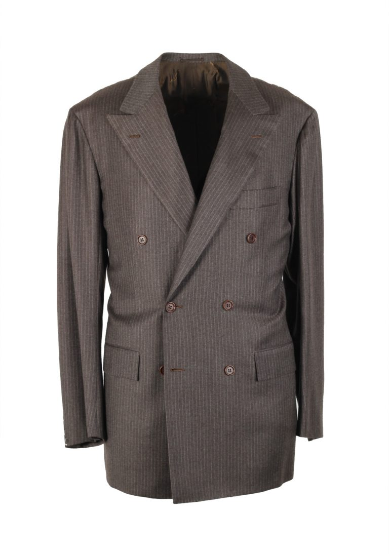 Kiton Suit Size 50 / 40R U.S. 100% Cashmere Double Breasted - thumbnail | Costume Limité