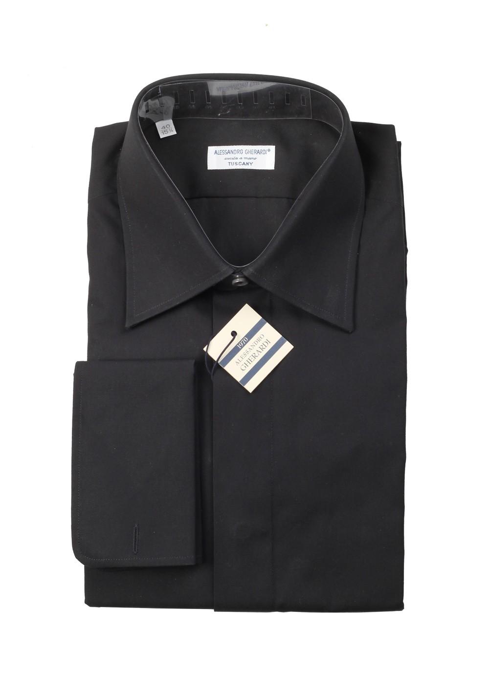 Alessandro Gherardi Shirt Tuxedo Dress Size 40 / 16 U.S. | Costume Limité
