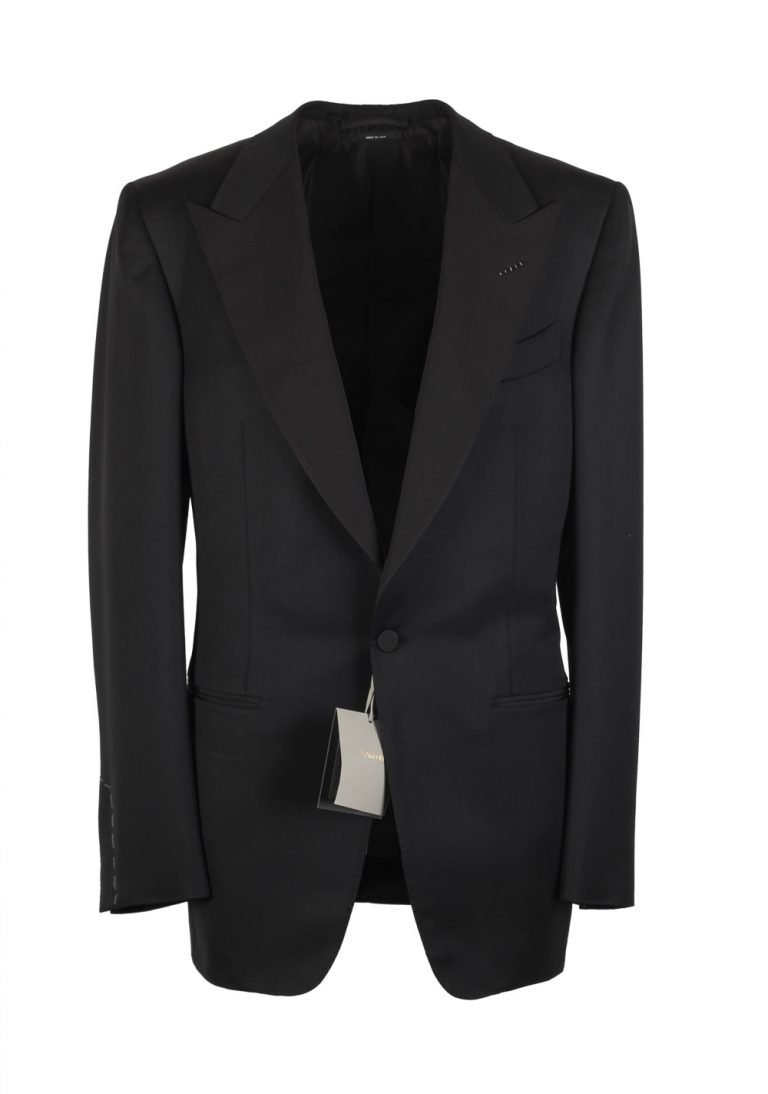 TOM FORD Windsor Black Tuxedo Smoking Suit Size 50L / 40L U.S. Base A - thumbnail | Costume Limité