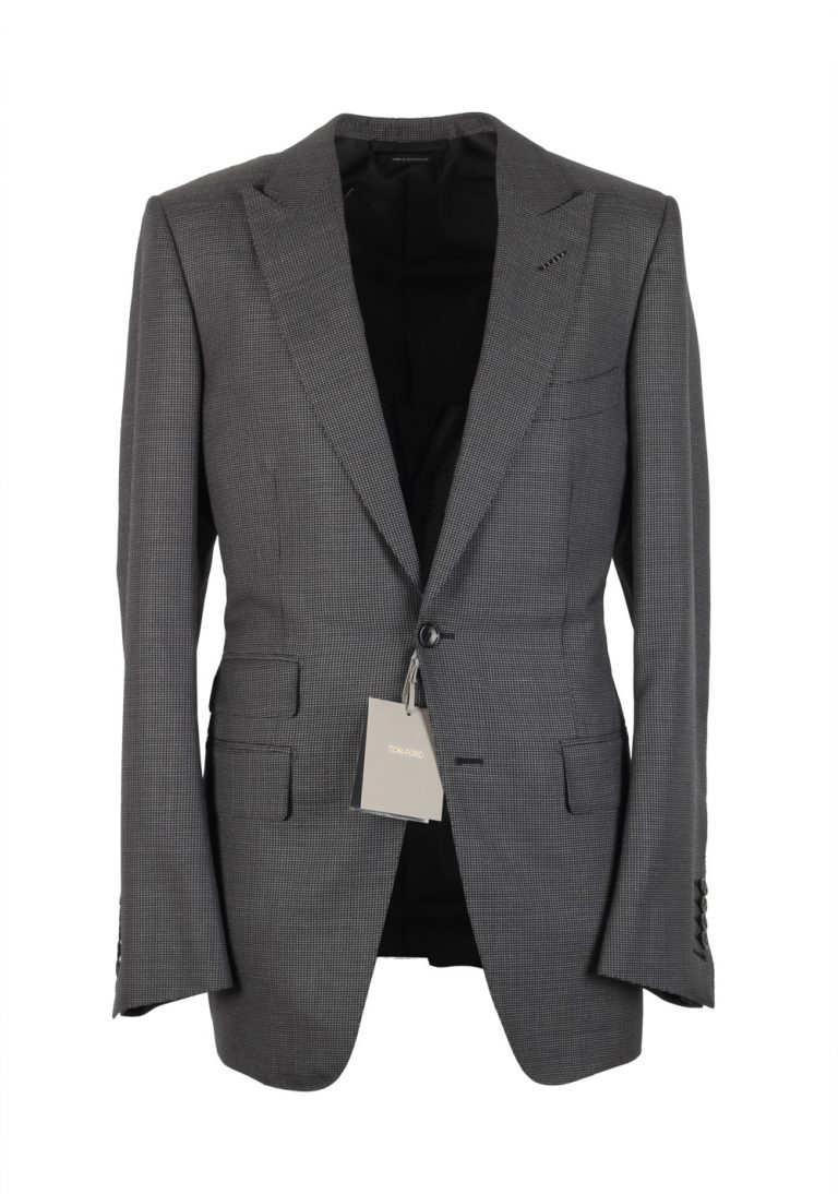 TOM FORD O'Connor Gray Suit Size 48 / 38R U.S. Wool Mohair Silk Fit W - thumbnail | Costume Limité