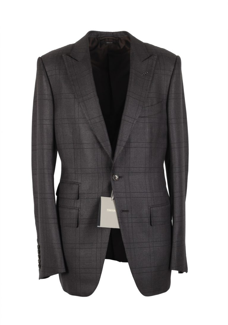 TOM FORD O'Connor Gray Suit Size 48 / 38R U.S. Wool Silk Linen Fit W - thumbnail | Costume Limité