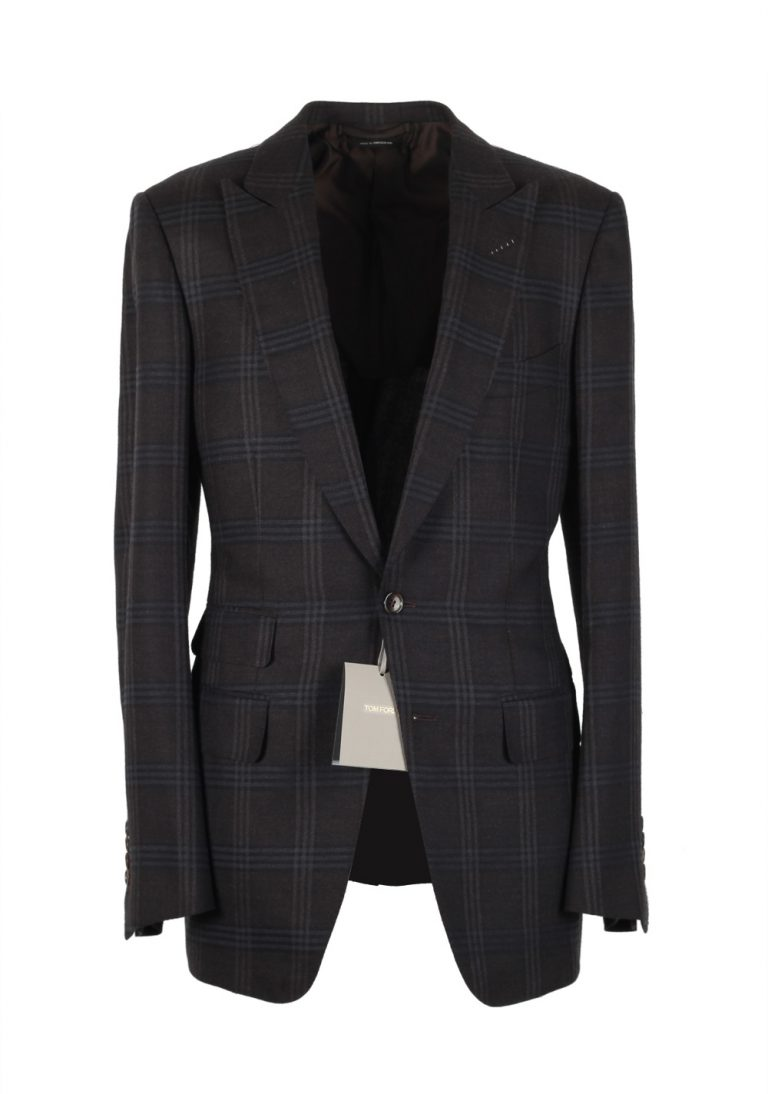 TOM FORD O'Connor Charcoal Suit Size 48 / 38R U.S. Wool Silk Linen Fit W - thumbnail | Costume Limité