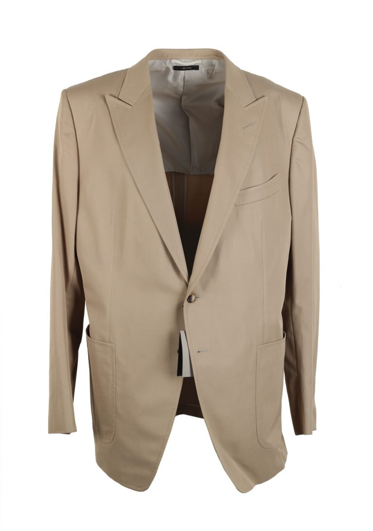 TOM FORD O'Connor Beige Sport Coat Size 58L / 48L U.S. Cotton Fit Y - thumbnail | Costume Limité