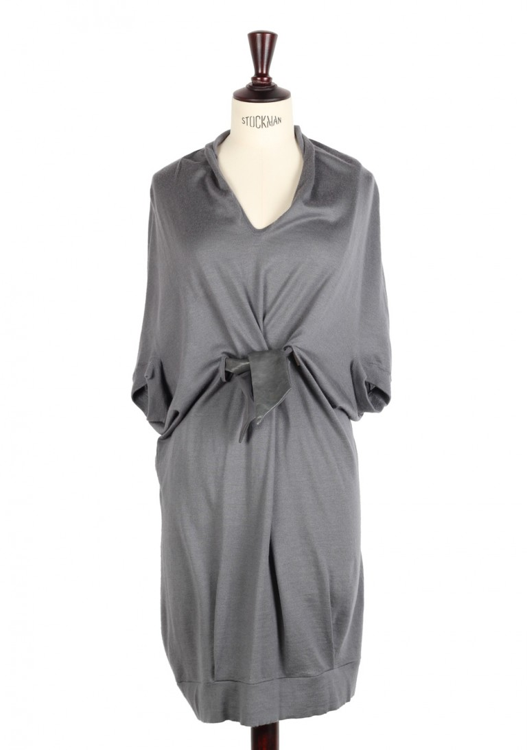 $1.700 Brunello Cucinelli Cashmere Silk Dress Size M IT / L U.S. - thumbnail | Costume Limité