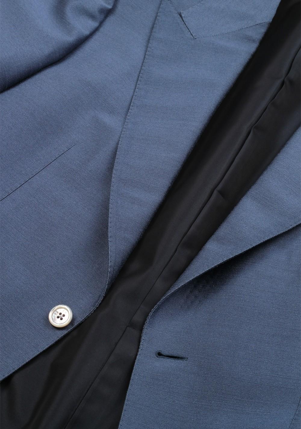 Grayish Blue Ford Grayish Blue Suit Size 48  38R U.s100% Silk Fit A