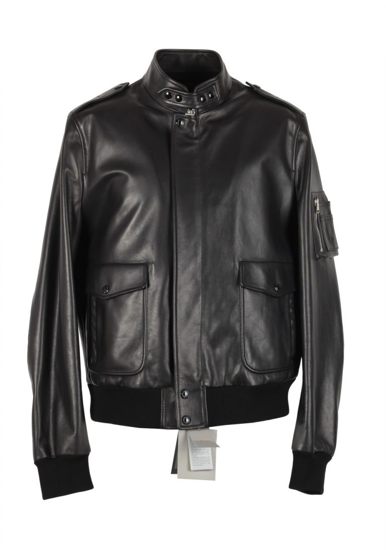 TOM FORD Leather Biker Jacket Coat Size 54 / 44R U.S. Outerwear - thumbnail | Costume Limité
