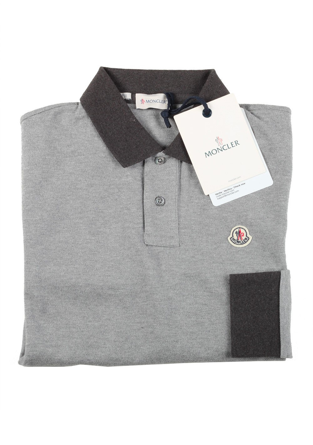 Moncler Long sleeve Polo Shirt Size S / 36R U.S. Light Gray | Costume Limité