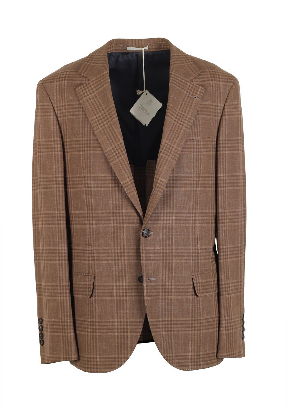 Cucinelli Beige Sport Coat Size 48 / 38R U.S. Wool Linen | Costume Limité