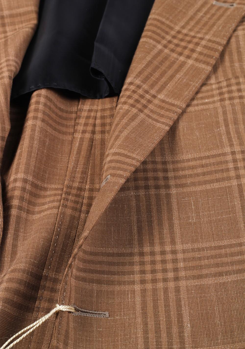 Cucinelli Beige Sport Coat Size 50 / 40R U.S. Wool Linen | Costume Limité