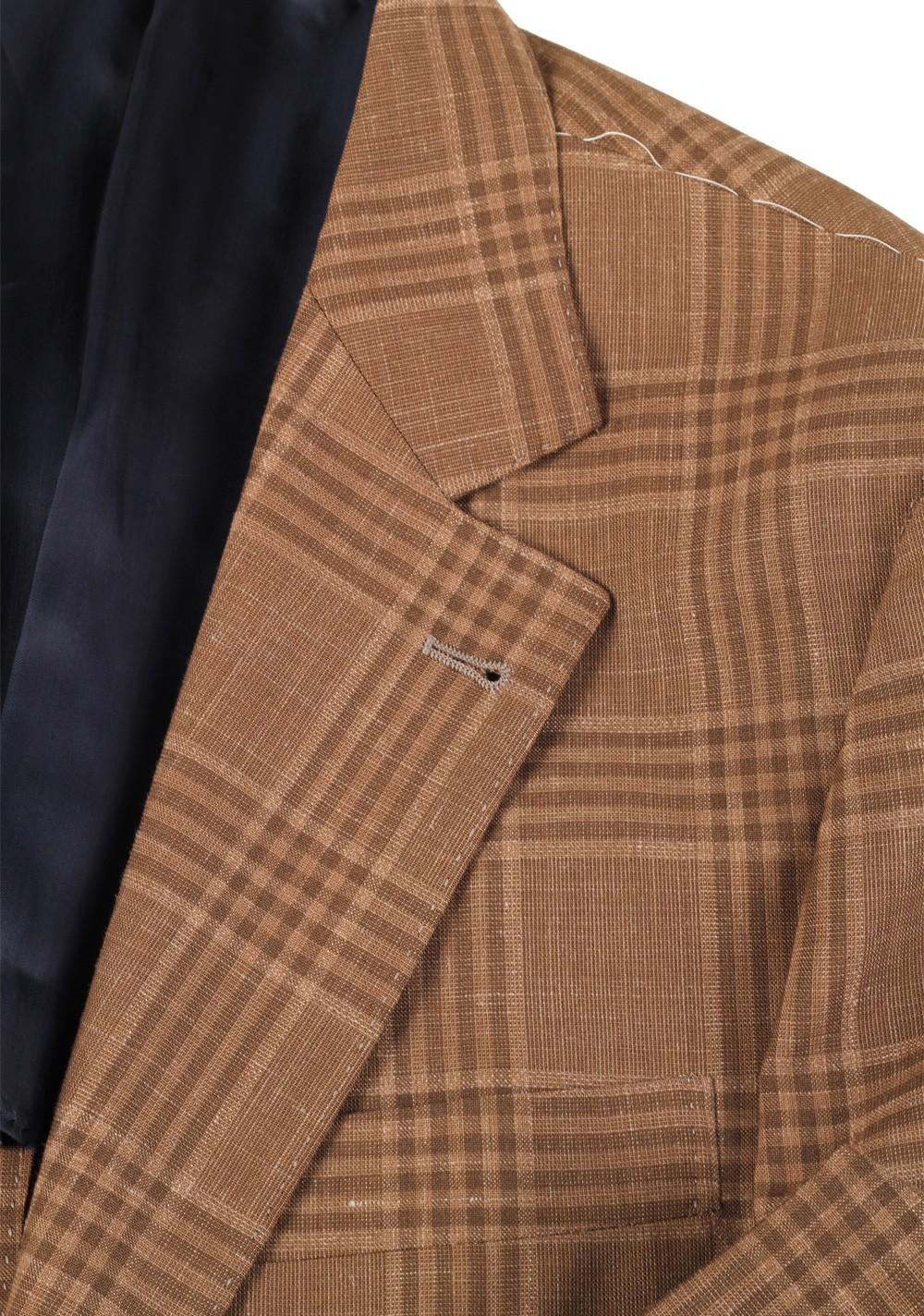 Cucinelli Beige Sport Coat Size 52 / 42R U.S. Wool Linen | Costume Limité
