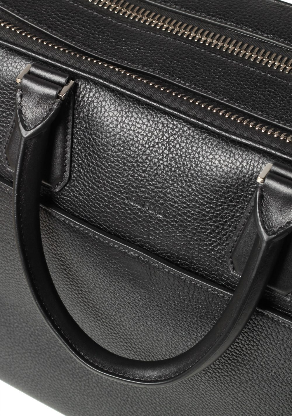 0624ecb04277 TOM FORD Buckley Double Zipper Briefcase With Shoulder Strap Black ...