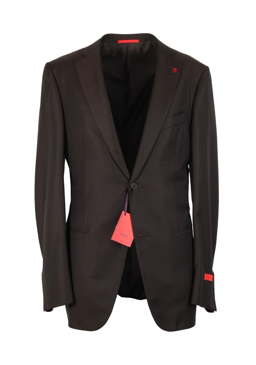 Isaia Aquaspider Suit Size 48L / 38L U.S. Super 160S | Costume Limité
