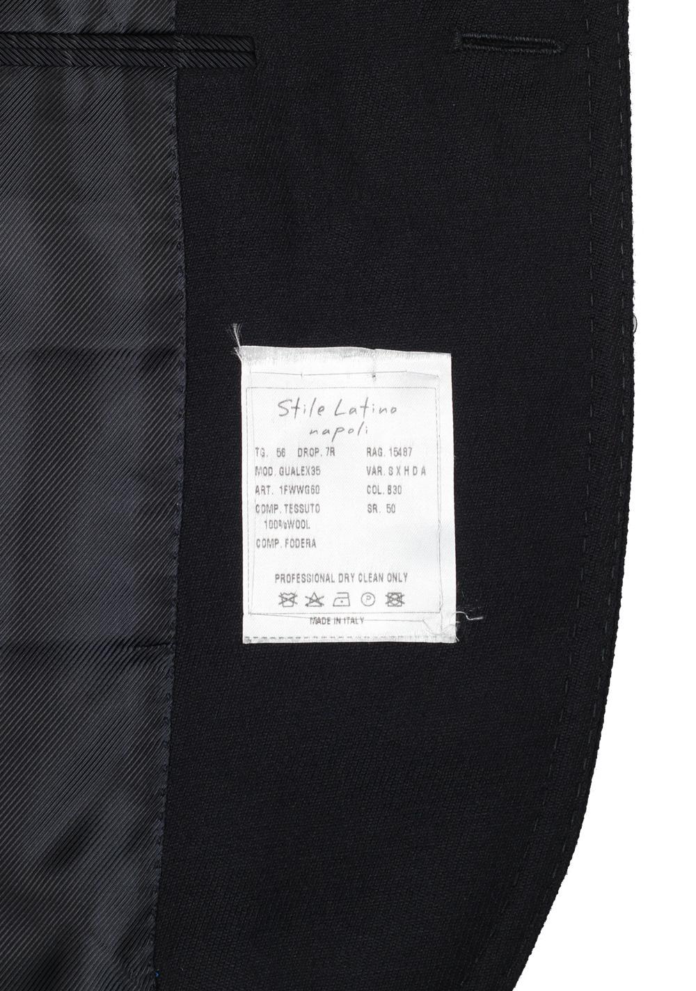 Stile Latino Blue Sport Coat Size 52L / 42L U.S. Wool | Costume Limité