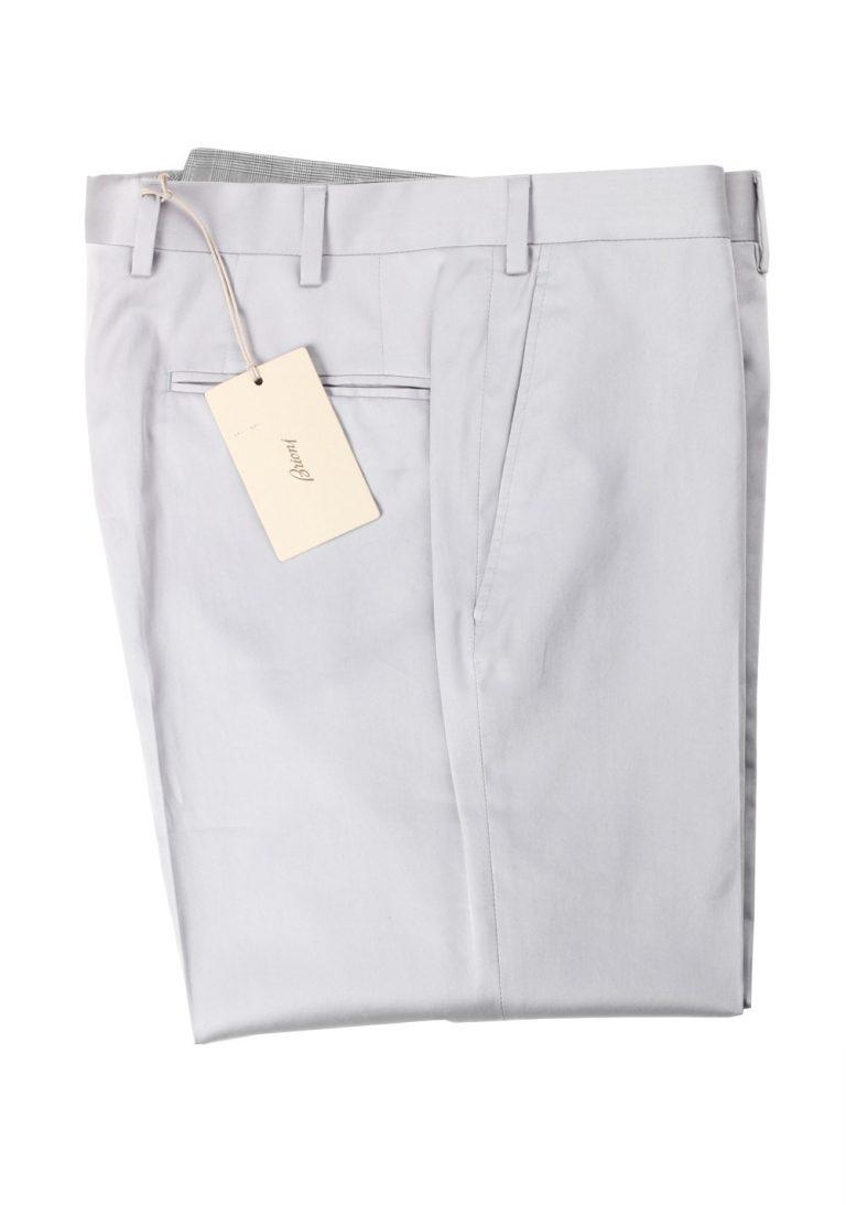 Brioni Silver Megeve Trousers Size 48 / 32 U.S. - thumbnail | Costume Limité