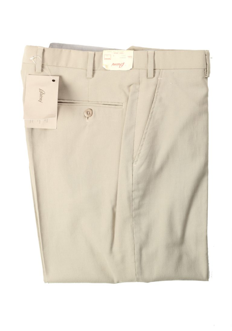 Brioni Beige Moena Trousers Size 50 / 34 U.S. - thumbnail | Costume Limité