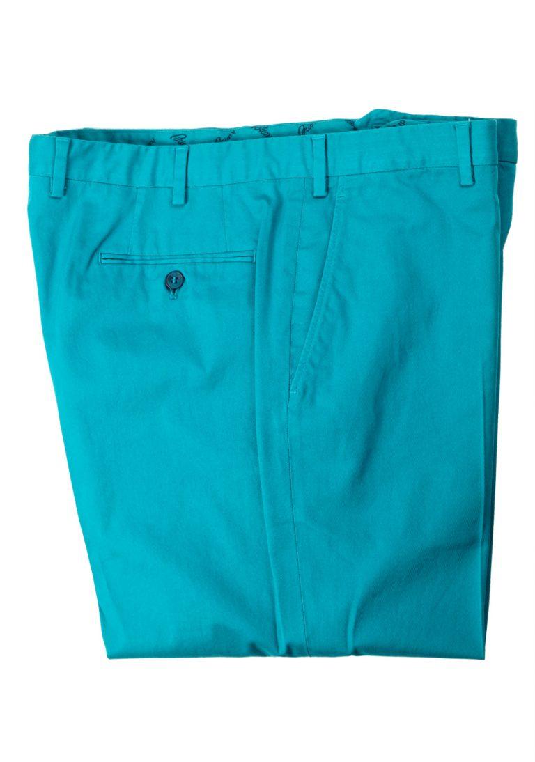 Brioni Teal Tigullio Trousers Size 54 / 38 U.S. - thumbnail | Costume Limité