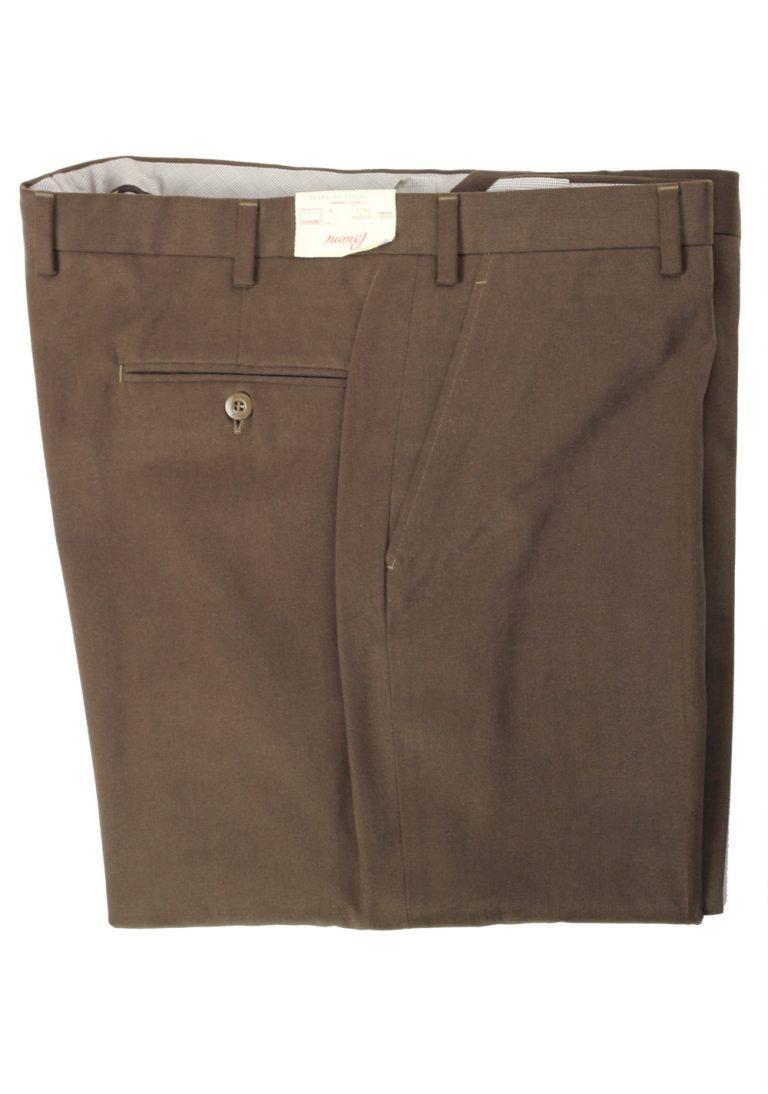 Brioni Green Moena Trousers Size 56 / 40 U.S. - thumbnail | Costume Limité