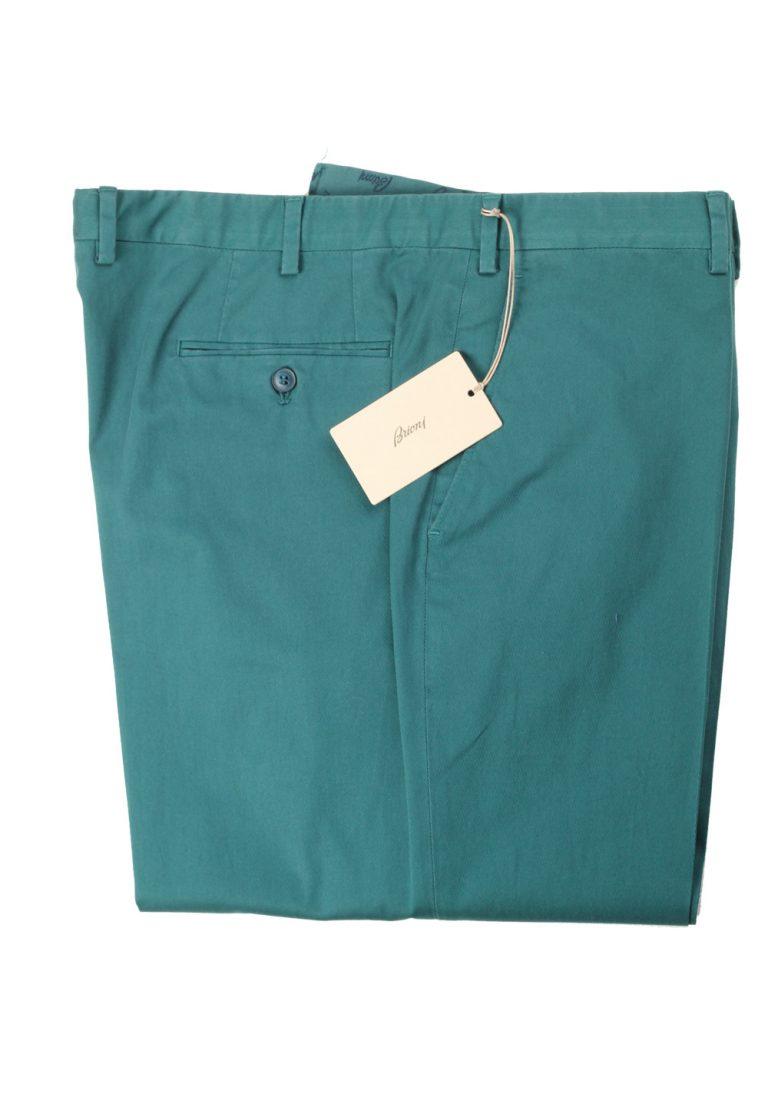Brioni Green Tigullio Trousers Size 58 / 42 U.S. - thumbnail | Costume Limité