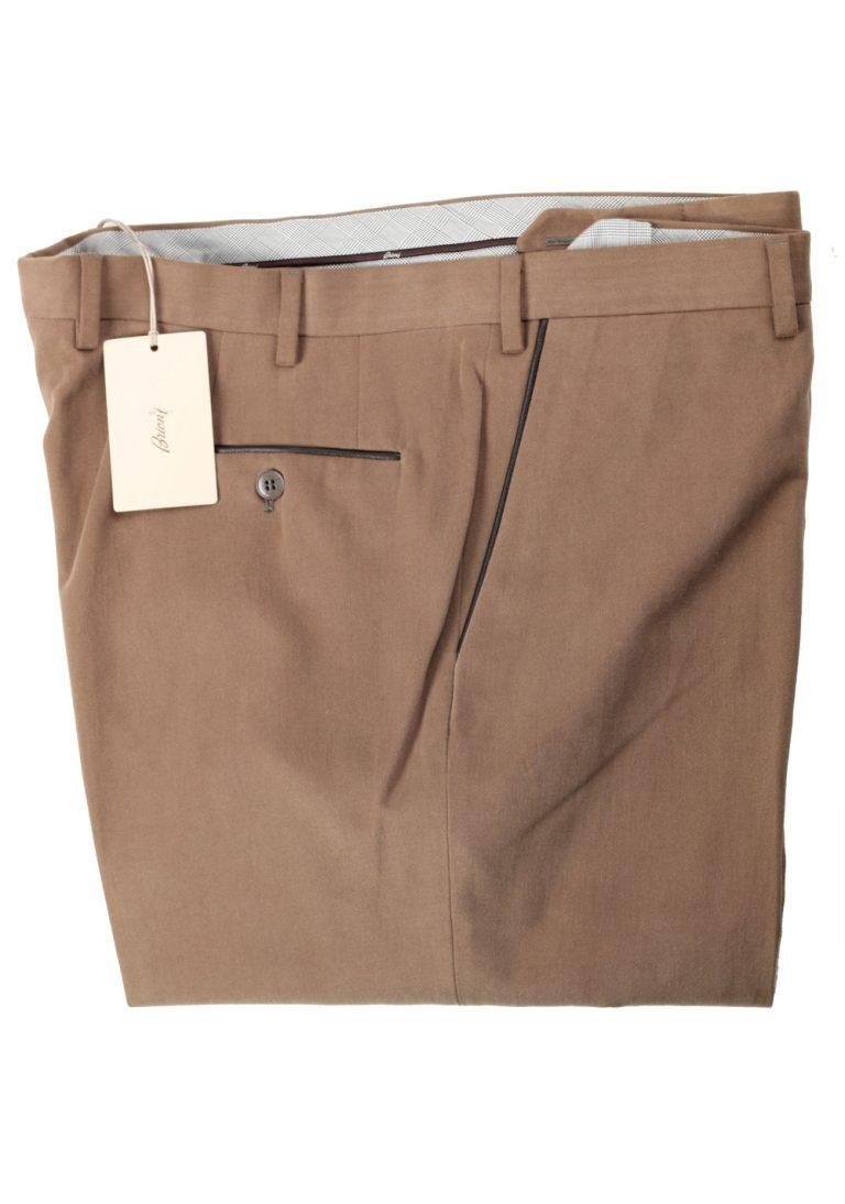 Brioni Beige Tigullio Trousers Size 58 / 42 U.S. - thumbnail | Costume Limité