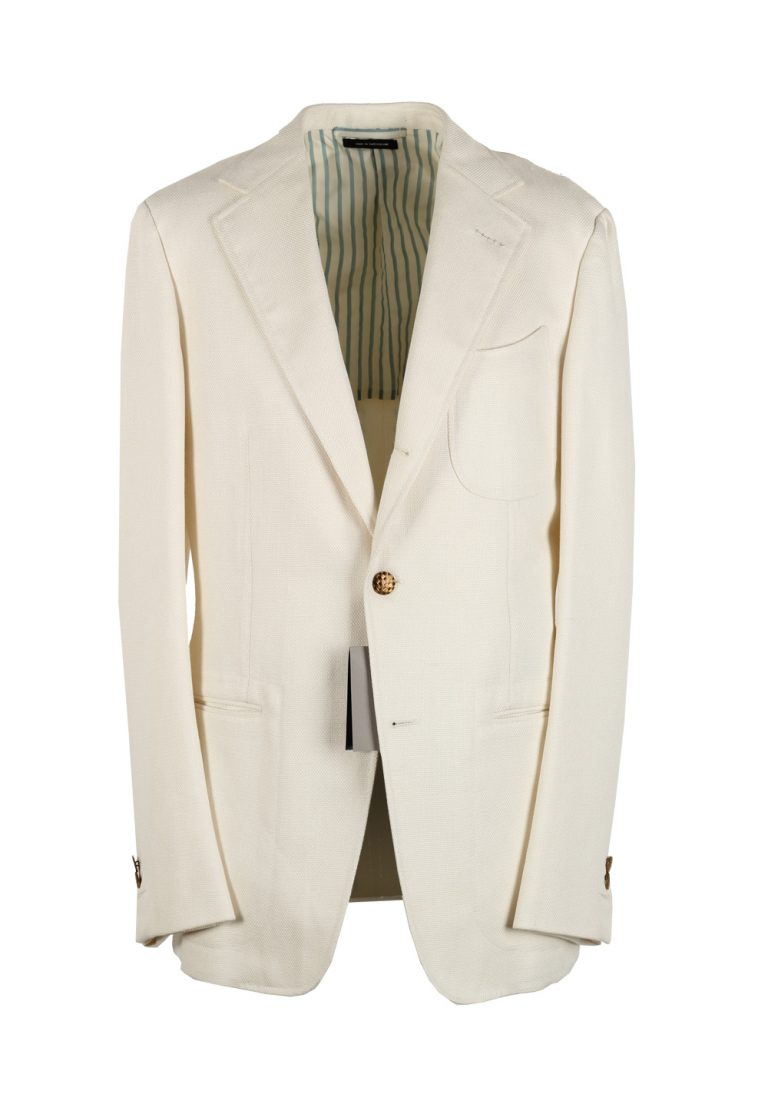 TOM FORD Spencer Off White Sport Coat Size 48 / 38R U.S. Base D - thumbnail | Costume Limité