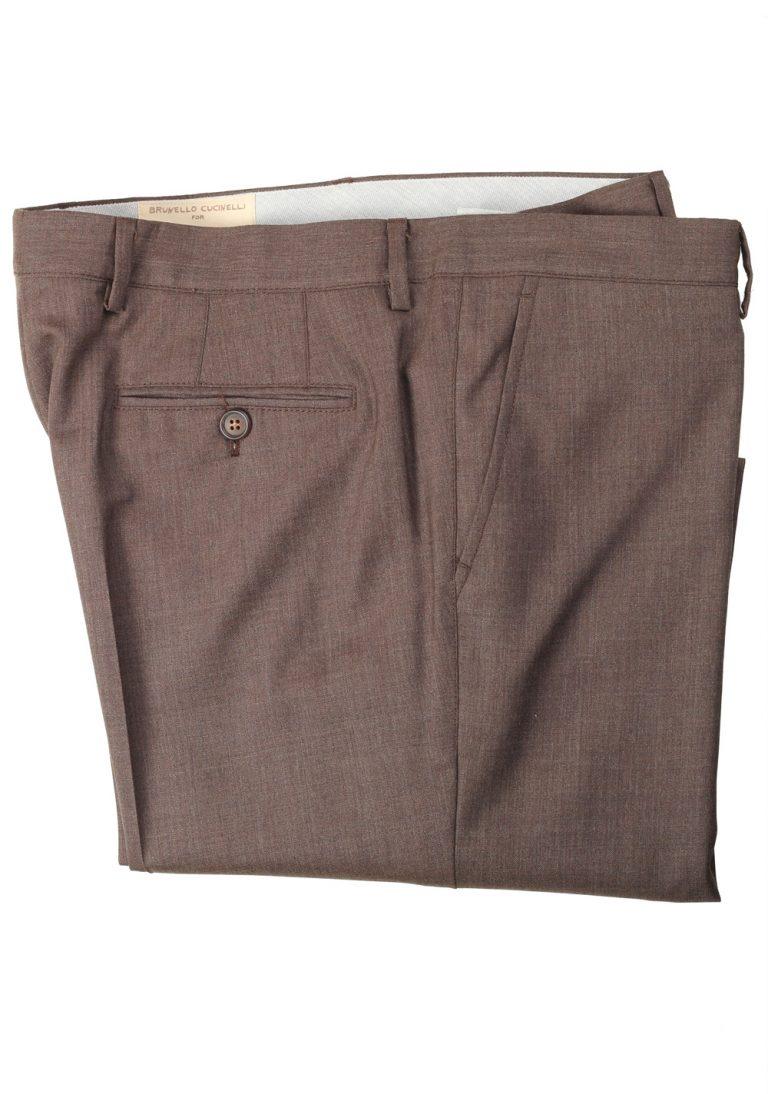 Brunello Cucinelli Brown Trousers Size 58 / 42 U.S. - thumbnail | Costume Limité