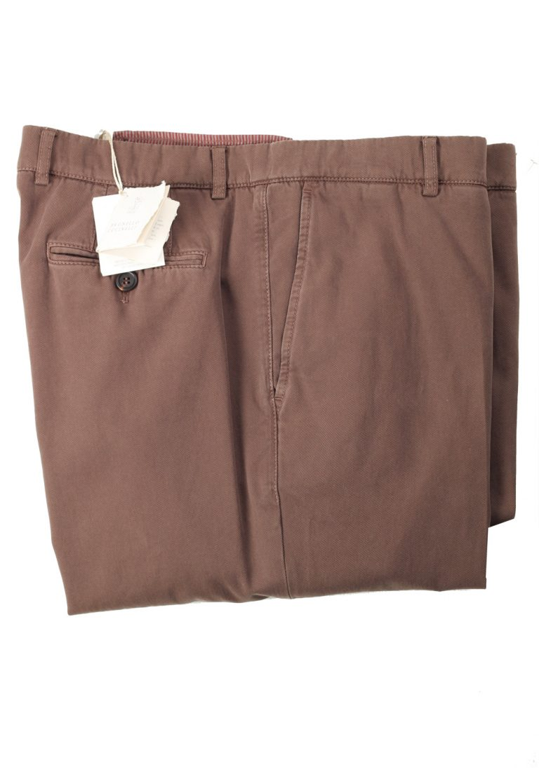 Brunello Cucinelli Brown Trousers Size 58 / 42 U.S. - thumbnail | Costume Limité