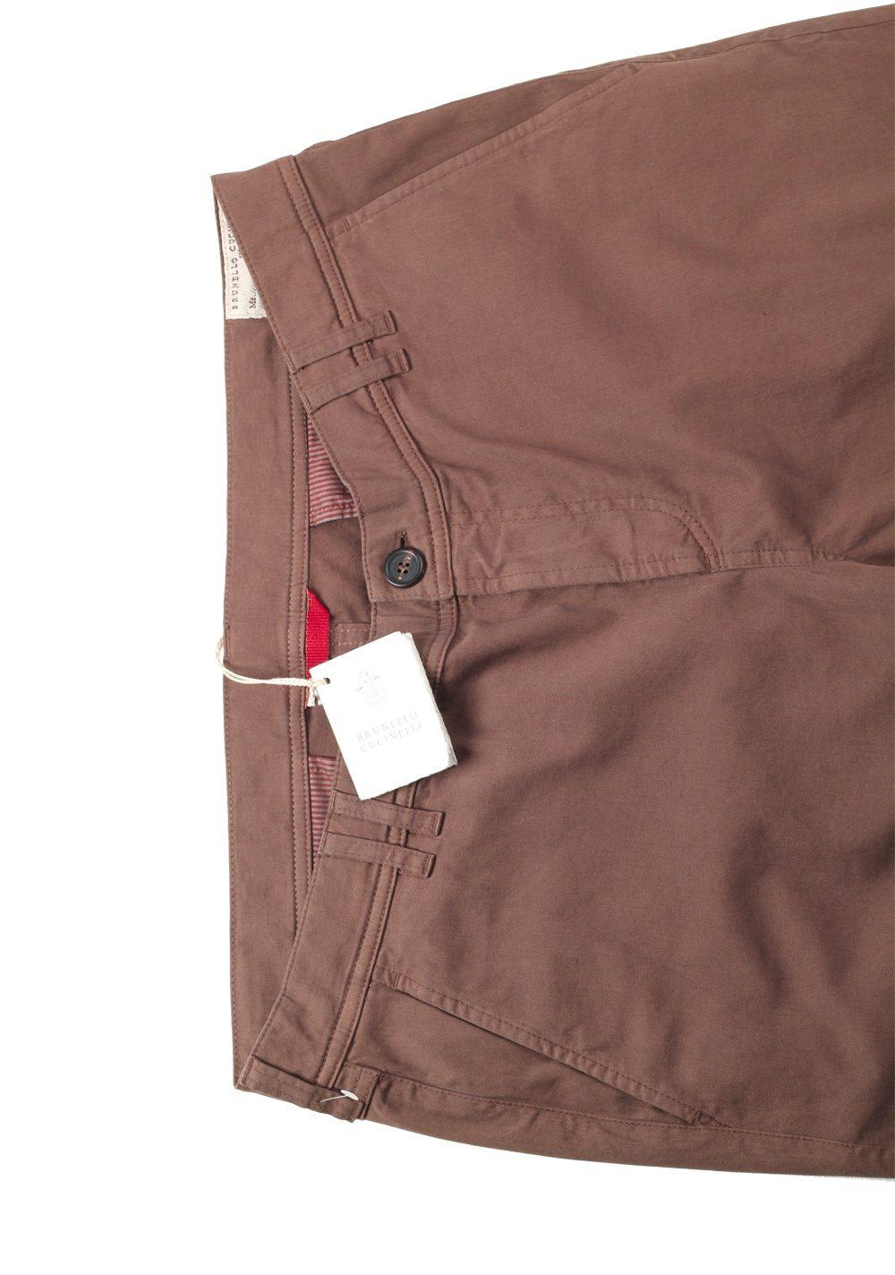 Brunello Cucinelli Brown Trousers Size 58 / 42 U.S. | Costume Limité