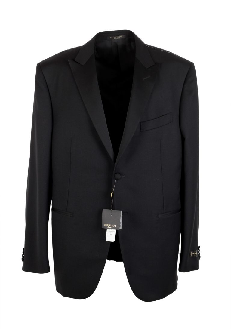 Corneliani Black Tuxedo Sport Coat Size 56 / 46R U.S. Virgin Wool - thumbnail | Costume Limité