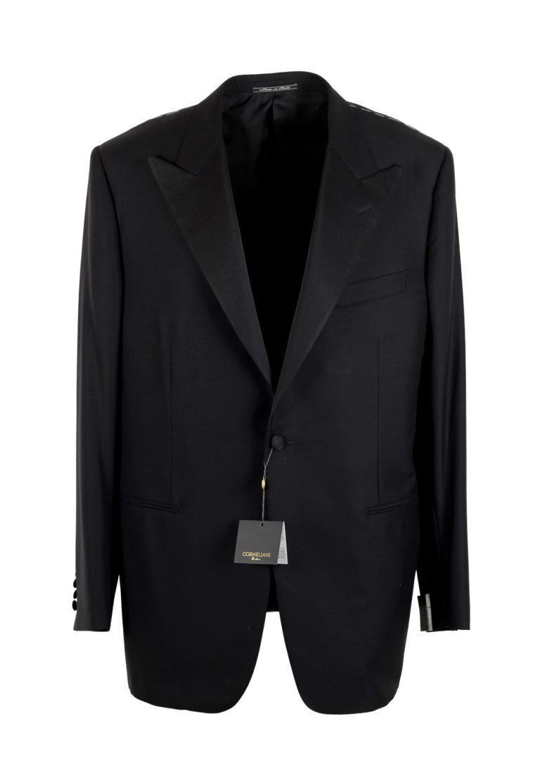 Corneliani Black Tuxedo Sport Coat Size 56L / 46L U.S. Super 140s - thumbnail | Costume Limité