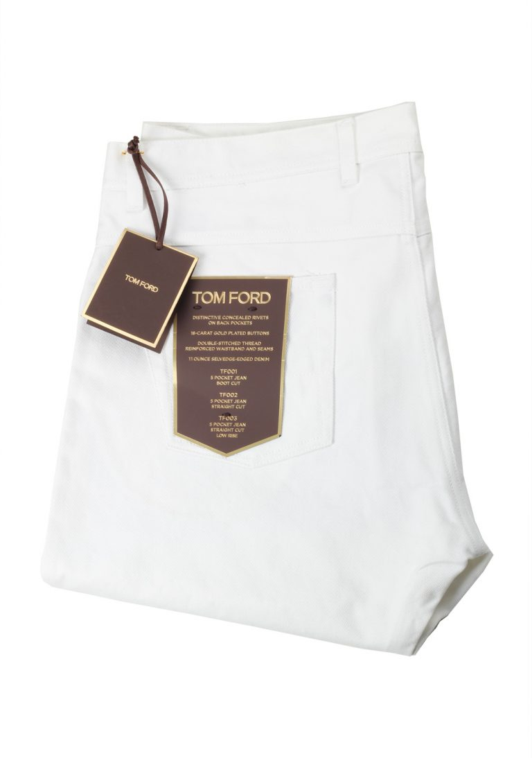 TOM FORD White Jeans TFD002 Size 66 / 50 U.S. - thumbnail | Costume Limité