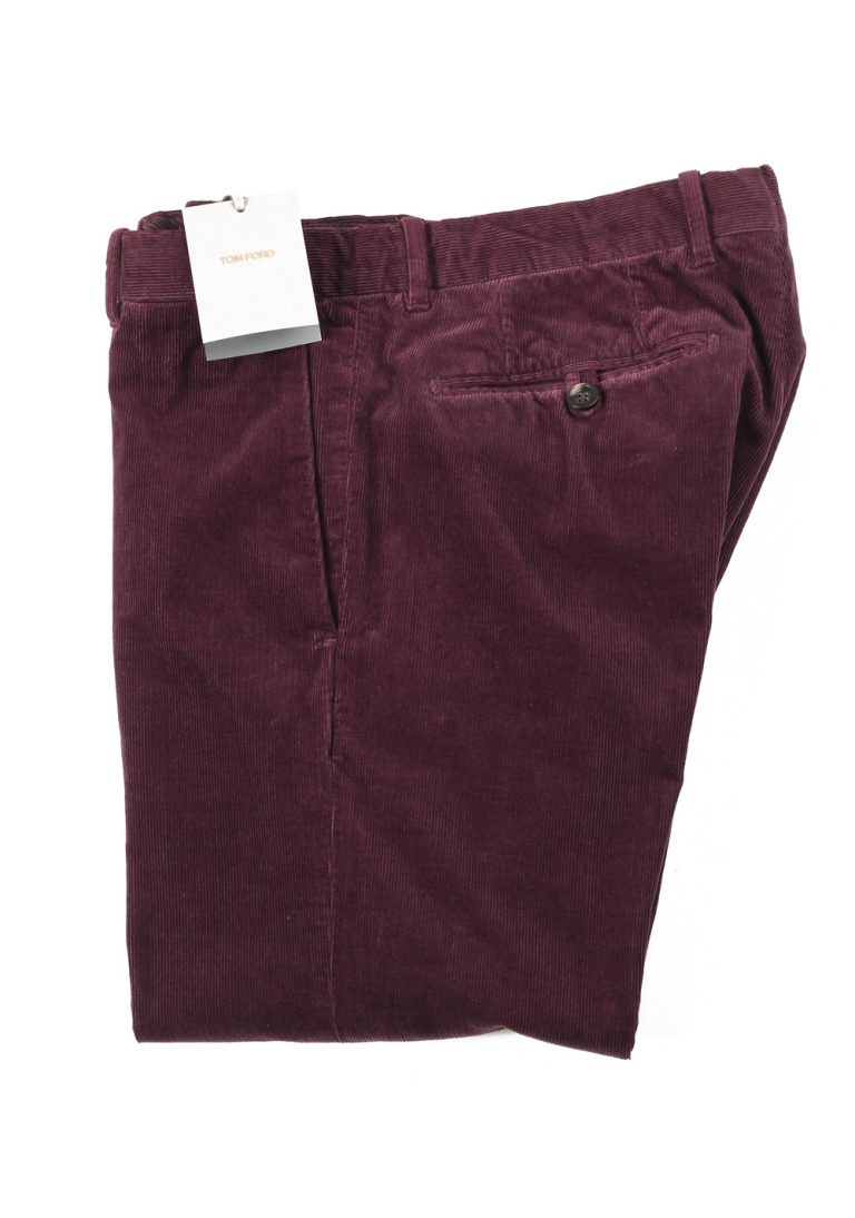 TOM FORD Aubergine Trousers Size 48 / 32 U.S. - thumbnail | Costume Limité