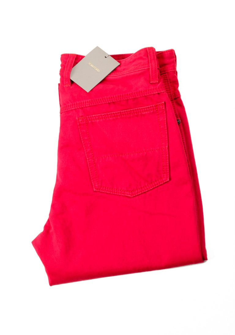 TOM FORD Red Jeans Trousers Size 48 / 32 U.S. - thumbnail | Costume Limité