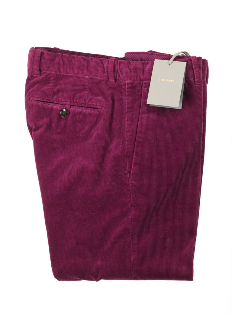 TOM FORD Purple Trousers Size 48 / 32 U.S. - thumbnail | Costume Limité