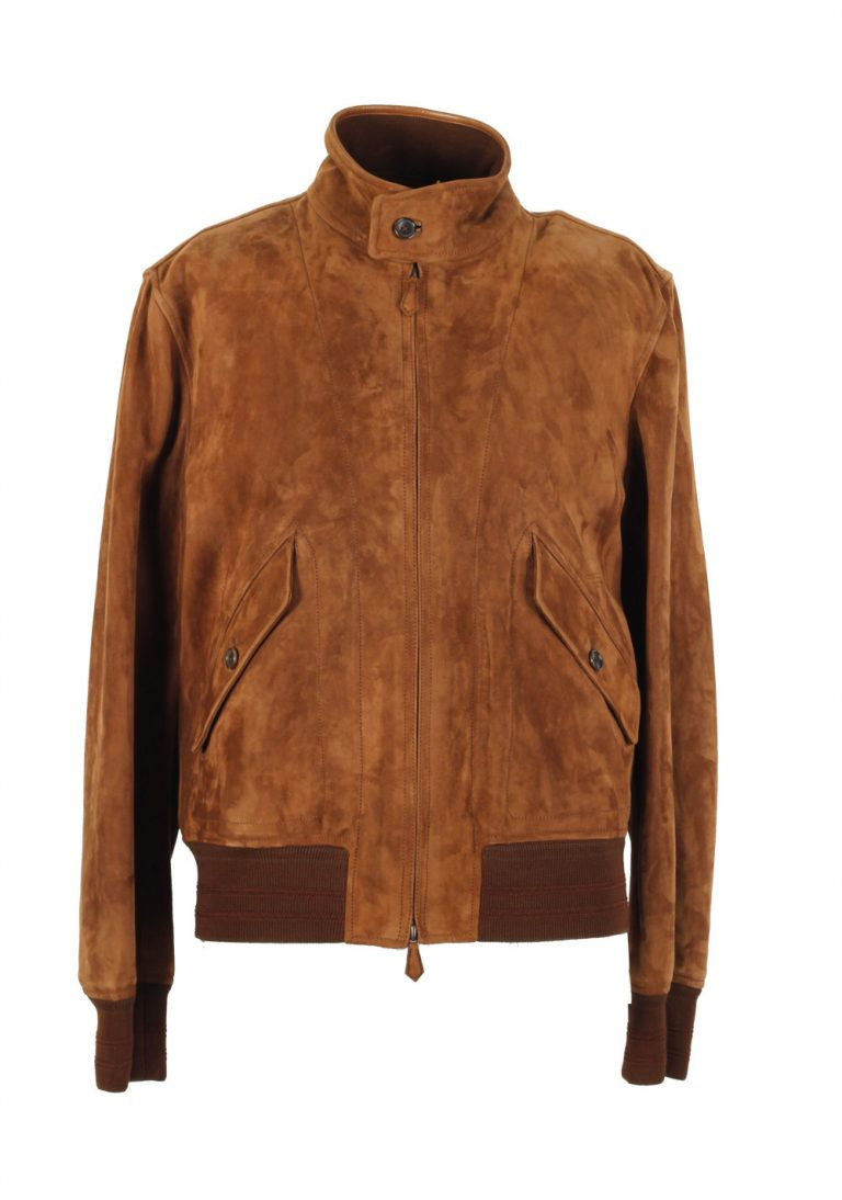 TOM FORD Leather Lambskin Suede Jacket Coat Size 50 / 40R U.S. Outerwear - thumbnail | Costume Limité
