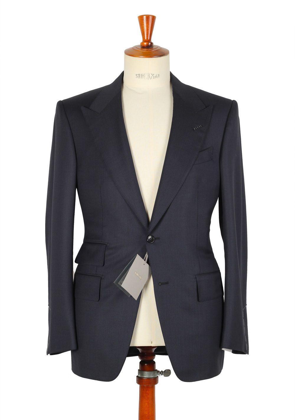 Tom Ford Windsor Birdseye Blue Suit Size 48 38r U S