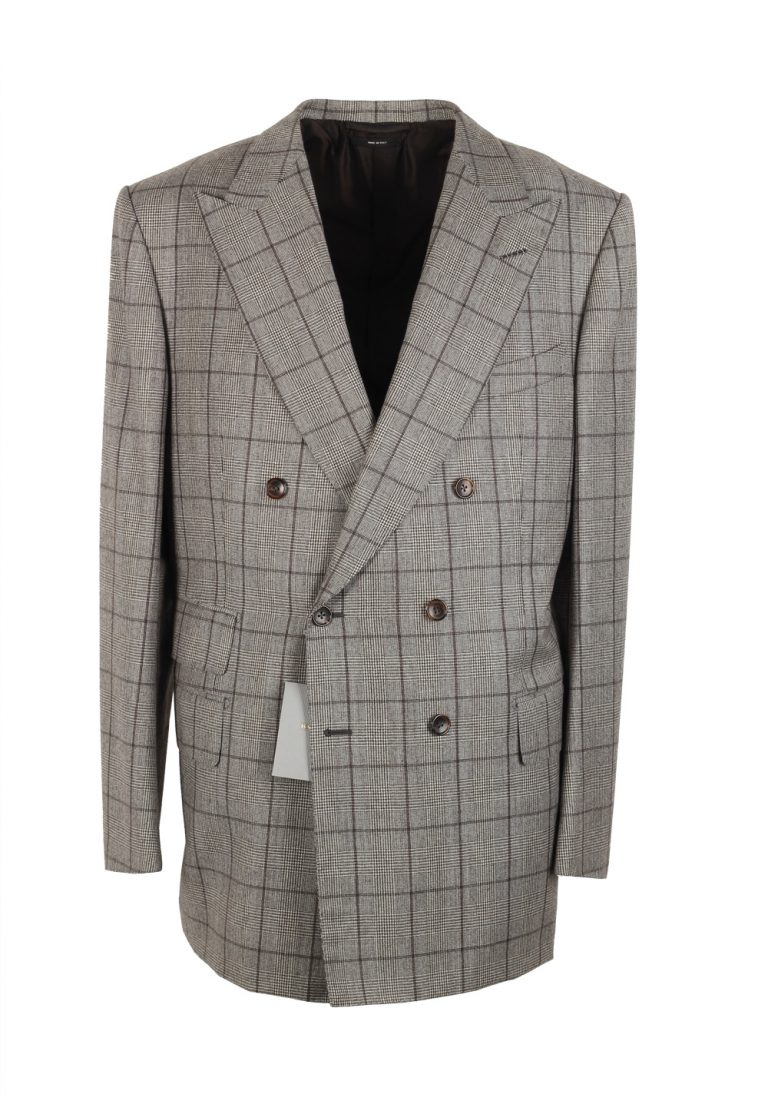 TOM FORD Windsor Double Breasted Sport Coat Size 56 / 46R U.S. Wool Cashmere Base A - thumbnail | Costume Limité