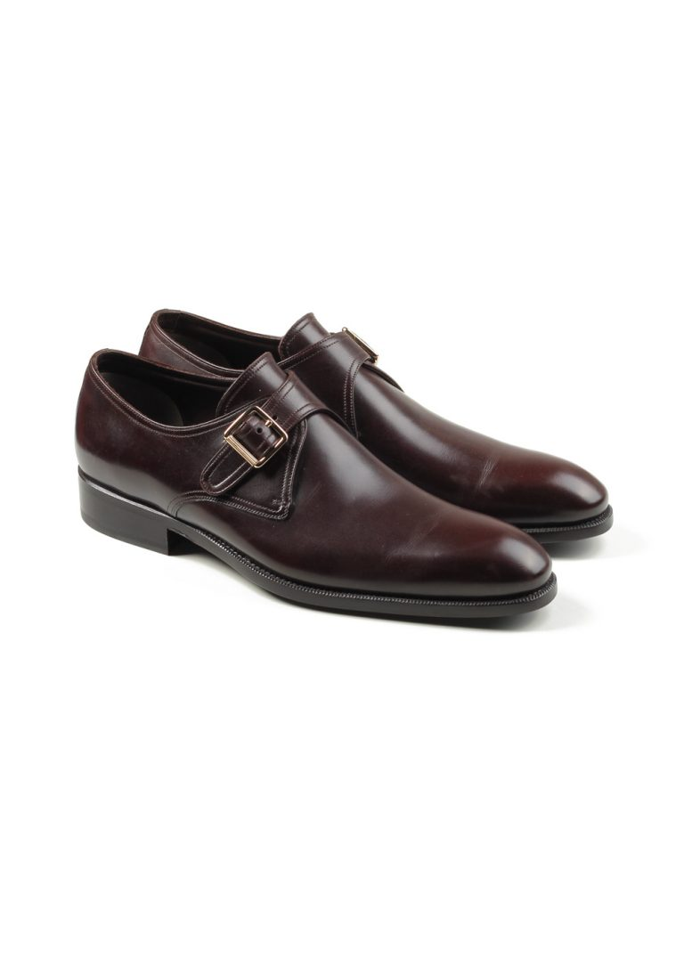TOM FORD Brown Monk Strap Shoes Size 8T Uk / 9T U.S. - thumbnail | Costume Limité