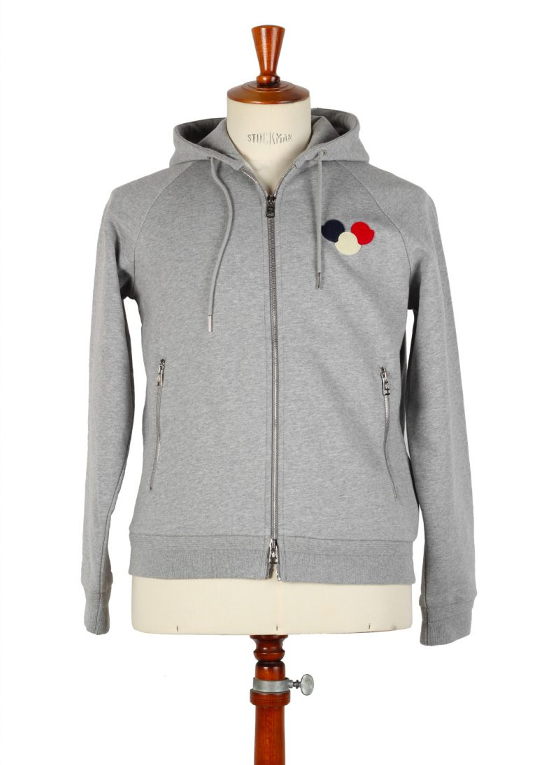Moncler Gray Sweatshirt Hooded Sweater Size M / 48 / 38 U.S. Cotton - thumbnail | Costume Limité