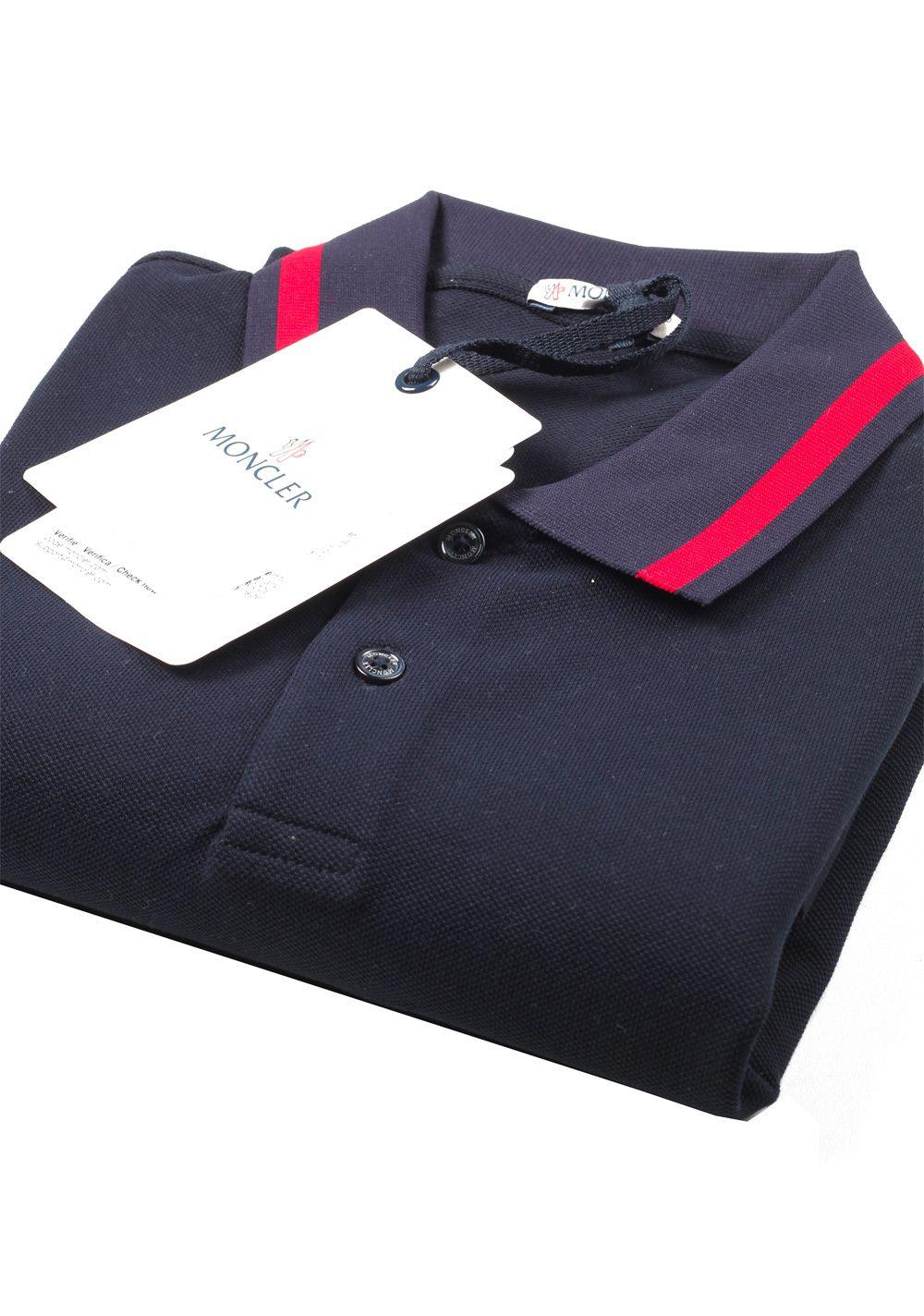 12c4f460231d Moncler Long Sleeve Polo Shirt Size M   38R U.S. Navy