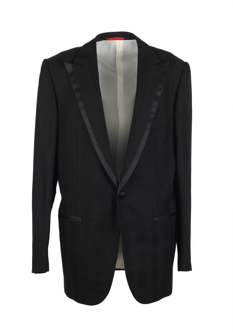 Isaia Black Tuxedo Smoking Suit Size 54L / 44L U.S. Base Vegas - thumbnail | Costume Limité