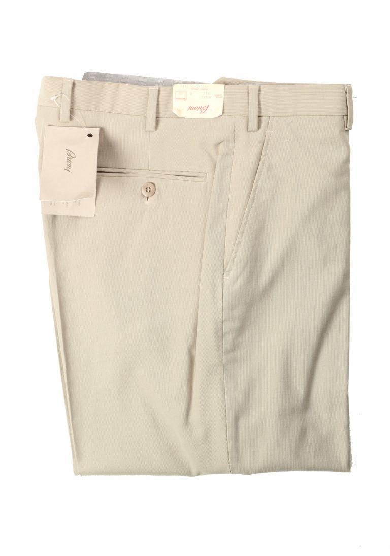 Brioni Beige Moena Trousers Size 58 / 42 U.S. - thumbnail | Costume Limité