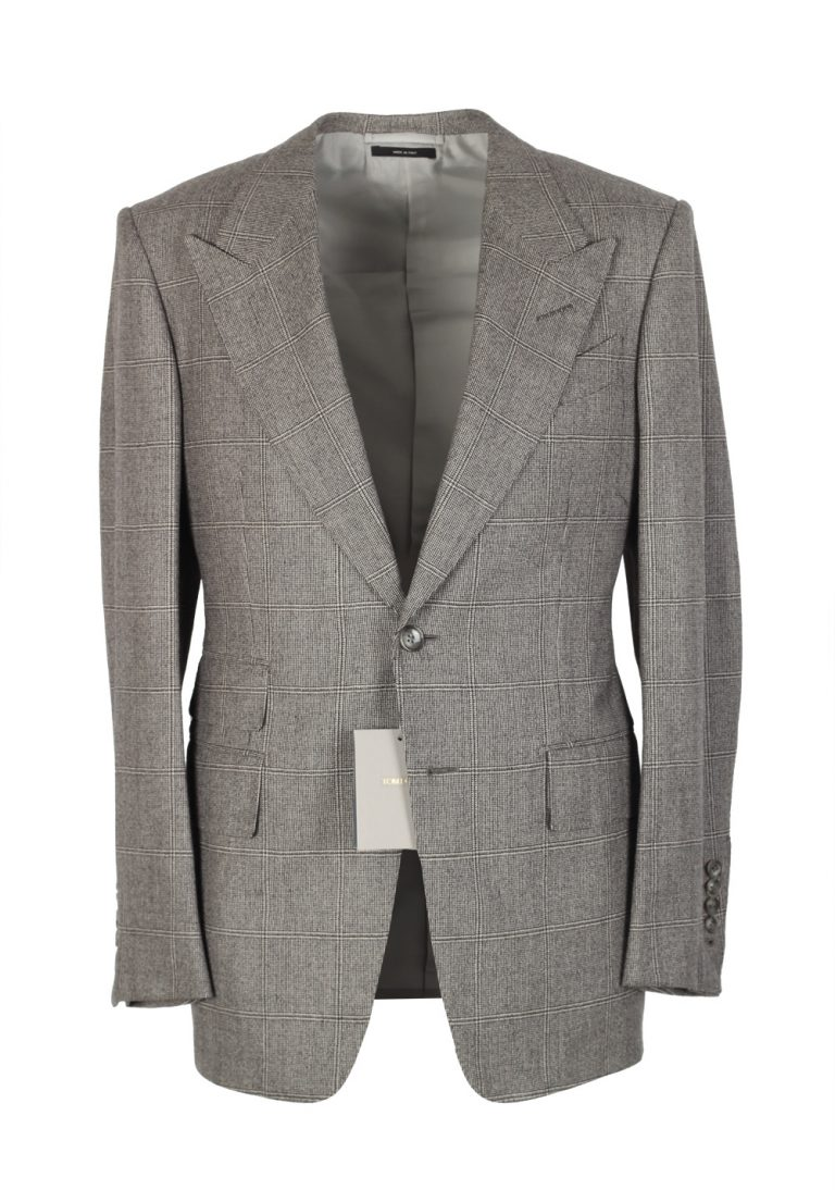 TOM FORD Spencer Gray Sport Coat Size 46 / 36R Wool Cashmere Fit D - thumbnail | Costume Limité