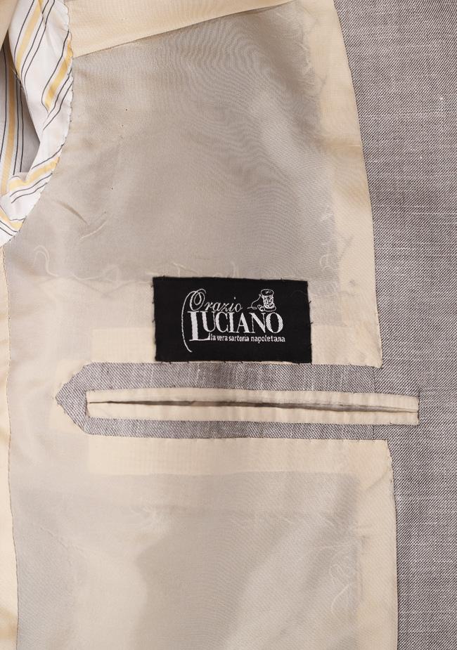 La Vera Sartoria Napoletana Sport Coat Size 50 / 40L Long U.S. Linen Cashmere Silk | Costume Limité