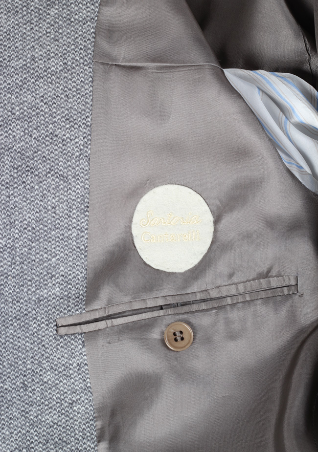 Cantarelli Sport Coat Size 56 / 46R U.S. Wool Angora Cashgora | Costume Limité