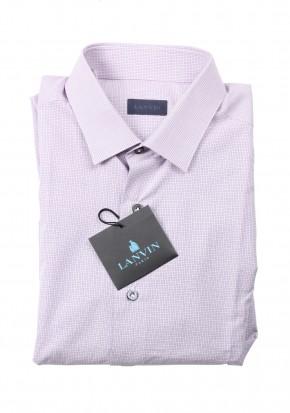 Lanvin Shirt Lilac Striped Dress Size 42 / 16,5 U.S. - thumbnail | Costume Limité
