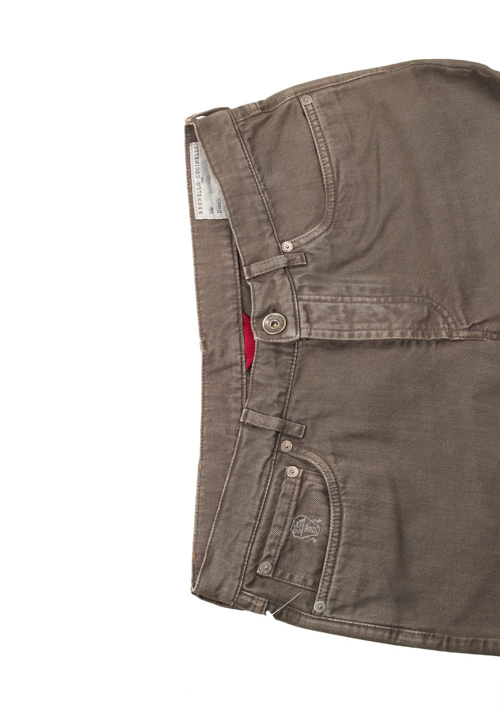 Brunello Cucinelli Brownish Green Jeans Trousers Size 48 / 32 U.S. | Costume Limité