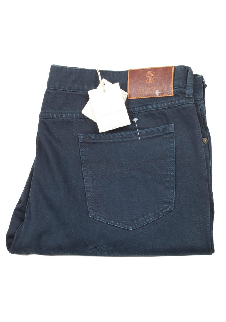 Brunello Cucinelli Blue Trousers Size 60 / 44 U.S. - thumbnail | Costume Limité
