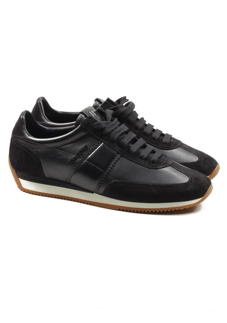 TOM FORD Orford Colorblock Suede Black Trainer Sneaker Shoes Size 8.5 UK / 9.5 U.S. - thumbnail | Costume Limité