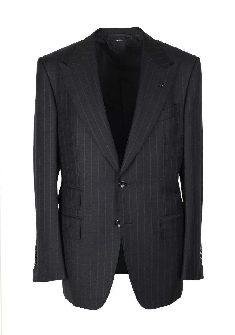 TOM FORD Windsor Striped Charcoal Suit Size 48 / 38R U.S. Wool Fit A - thumbnail | Costume Limité